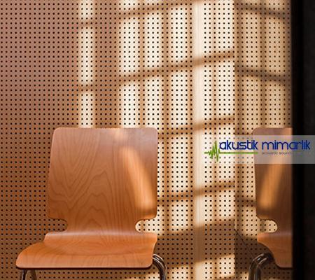 Akustik Delikli Duvar Panelleri