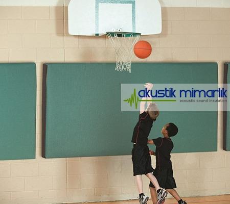 basketbol sahası kumaş panel