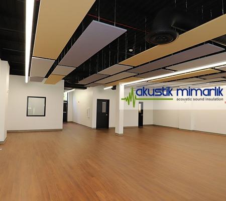 akustik kumaş kaplı tavan panel