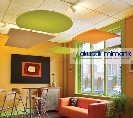 asma akustik yüzer tavan paneli